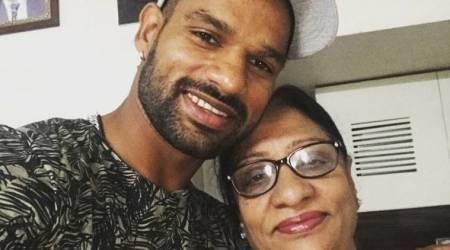 shikhar dhawan, india vs sri lanka, ind vs sl, shikhar dhawan mother, c
