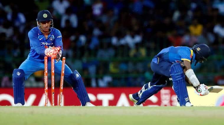 ms dhoni, sachin tendulkar, mahendra singh dhoni, dhoni, dhoni 100 stumpings, india vs sri lanka, ind vs sl, cricket, sports news, indian express
