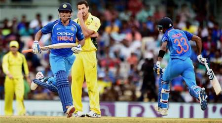MS Dhoni, Hardik Pandya, Dhoni Pandya, India vs Australia, Australia tour of India 2017, sports news, cricket, Indian Express