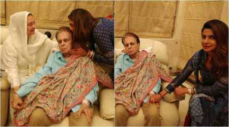 Priyanka Chopra visits Dilip Kumar, Saira Banu and the photos are no less than a family portrait