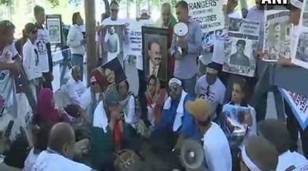 Muhajirs protest against human rights violations in Pakistan atUN