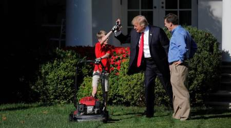 Donald Trump invites 11-year-old boy to mow Rose Garden lawn