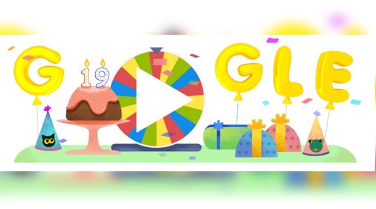 Google celebrates its own 19th birthday with a colourful game-doodle