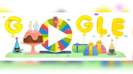 Google doodle has a surprise spinner on its 19th birthday