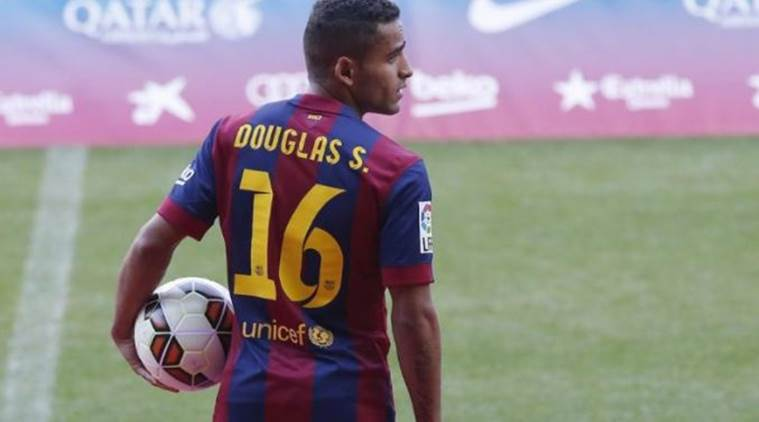 Barca send Douglas to Benfica on loan