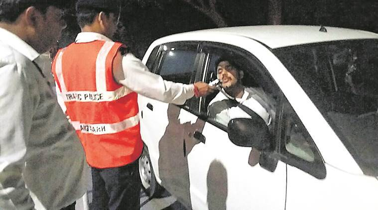Chandigarh drunk driving, Chandigarh traffic police, Chandigarh Traffic, Chandigarh news, Indian Express News