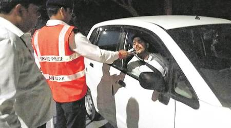 Hyderabad news, hyderabad drunk driving, hyderabad cab services, drunk driving, what is permissible level of alcohol in blood, indian express
