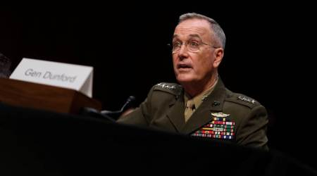 general dunford, Joseph Dunford, india us ties, america india relations, donald trump india, dunford on india, world news, indian express news