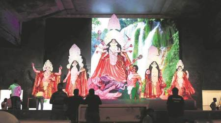 Bombay High Court, mumbai shivaji park, mumbai bengal club, Mumbai's oldest Durga Pujas, mumbai Krida Bhavan ground, durga puja, mumbai durga puja, mumbai news, indian express news