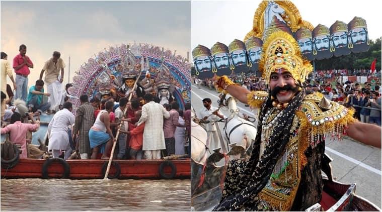How do Hindus celebrate Vijayadasami?