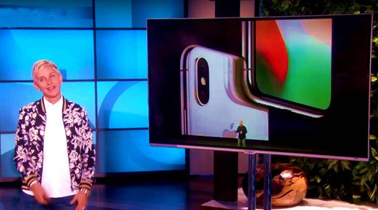 apple, apple iphone x, iphone x, iphone 8, ellen videos, ellen degeneres, the ellen degeneres show, iphone 8s, apple phone, apple devices, apple gadgets, apple iphone lovers, apple jokes, iphone x jokes, indian express, indian express news