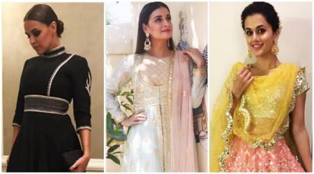 Neha Dhupia, Dia Mirza and Taapsee Pannu sizzle in ethnic outfits