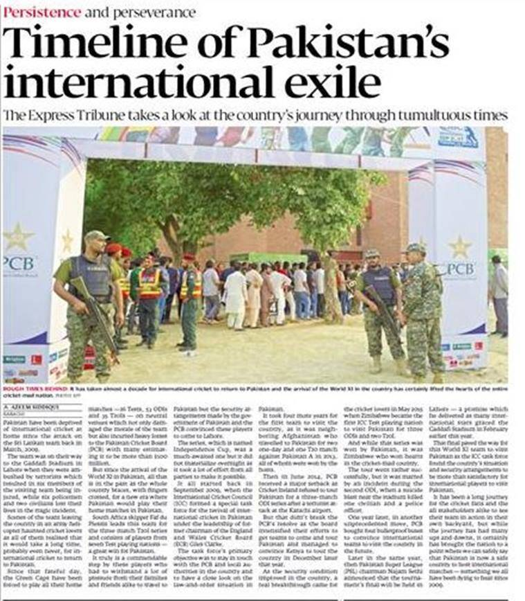pakistan vs world xi, pak vs world xi, pakistan media, pakistan world xi t20, cricket news, sports news, indian express