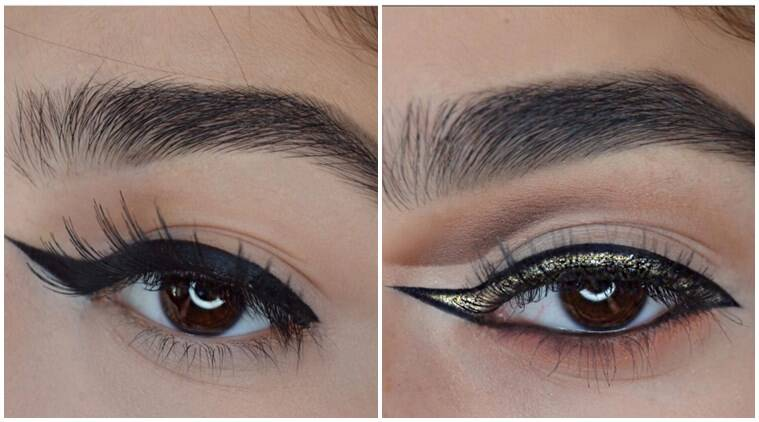 reverse eyeliner, reverse cat eyeliner, cat eyeliner, eye makeup trend, eye makeup, wavy eyebrows, wavy lips, squiggly eyebrows, squiggly lips, makeup trends, weird makeup trends, indian express, indian express news