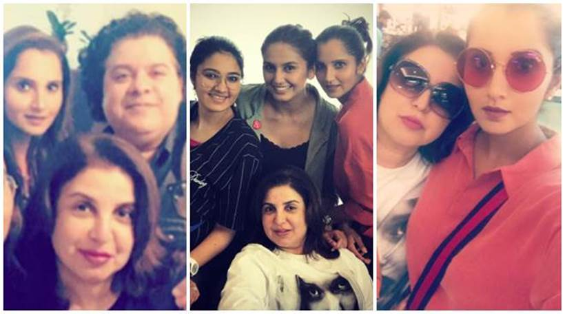 Farah Khan, Sania Mirza and Huma Qureshi are having the time