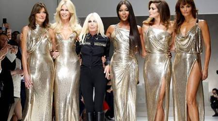 Milan Fashion Week: Donatella Versace's tribute to her brother was classic, colourful and chic