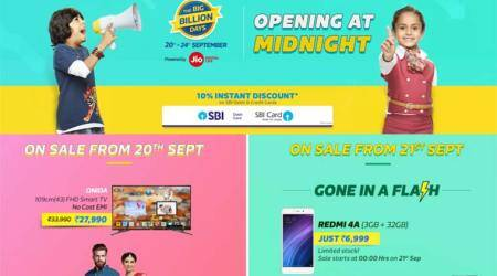 Flipkart Big Billion Days sale: Discount on Apple iPhone 7, 6s, Samsung Galaxy S7, and more