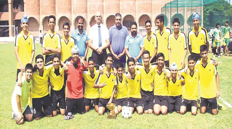 Image result for St Stephen's School claims football title, Led by their forwards,