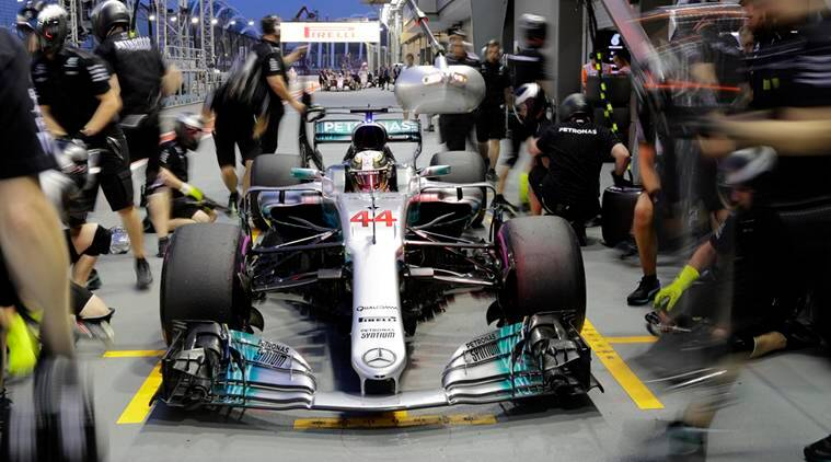 Lewis Hamilton wins Singapore Grand Prix after Sebastian Vettel crashes out