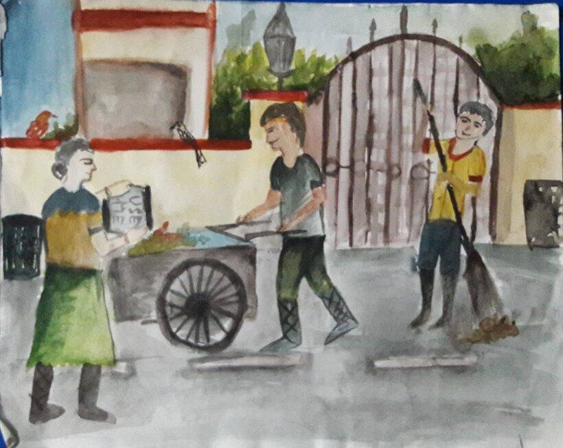 From Kameng To Kanker Paintings By Children Depicting Swachh Bharat