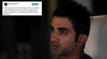 Gautam Gambhir to support education of slain Jammu & Kashmir cop Abdul Rashid's daughter