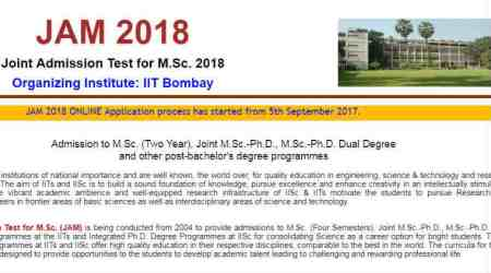 IIT JAM 2018: Application process begins, know exam dates, eligibility, syllabus