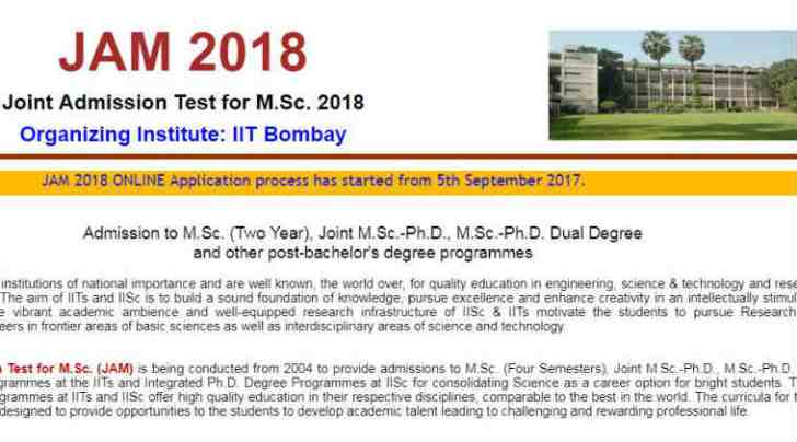 Image result for IIT JAM 2018: Application process begins, know exam dates, eligibility, syllabus