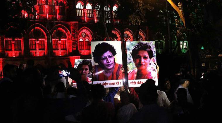 Gauri Lankesh murder: Scribes protest, seek justice for Lankesh