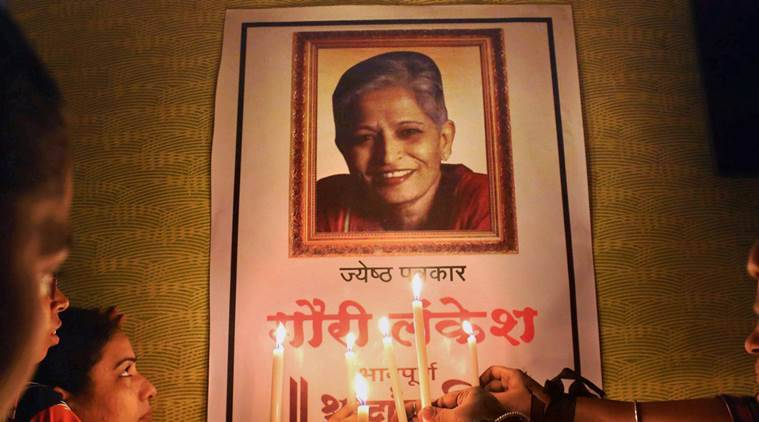 gauri lankesh, gauri lankesh murder, gauri lankesh killing, gauri lankesh death, writers, kerala, Hindutva, Sangh Parivar, rss, secular writers, india news, indian express news