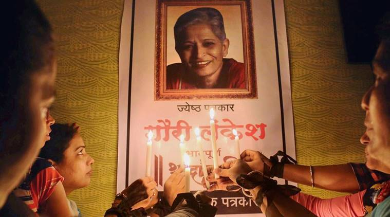 Gauri Lankesh, Gauri Lankesh murder, maoists and gauri lankesh, maoist condemn lankesh murder, maoist lankesh protest, indian express, india news