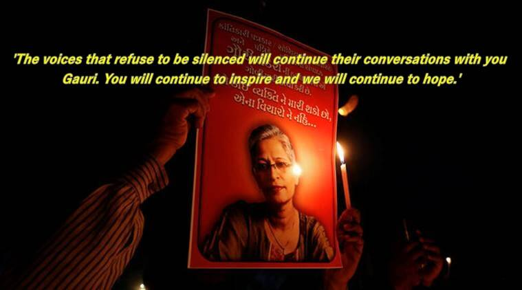 Protests over Gauri Lankesh murder; tributes paid