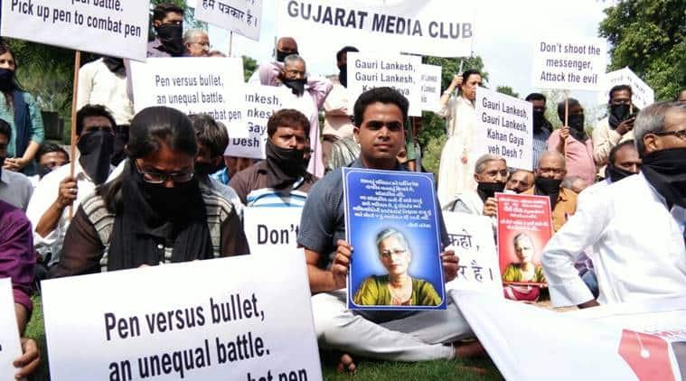 gauri lankesh, gauri lankesh murder, gauri lankesh shot, gauri lankesh killed, journalist killed, gauri lankesh protests,