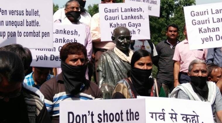 gauri lankesh, gauri lankesh murder, gauri lankesh shot, gauri lankesh killed, journalist killed, gauri lankesh protests,