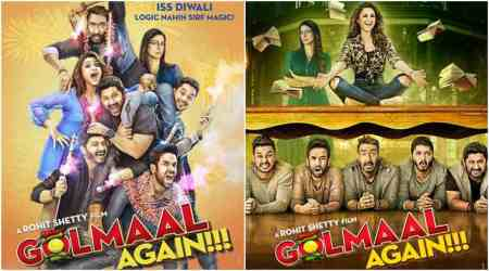Golmaal Again posters: Ajay Devgn and team are ready with a laughter riot