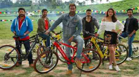 Golmaal Again cast uses Salman Khan's Being Human e-cycles