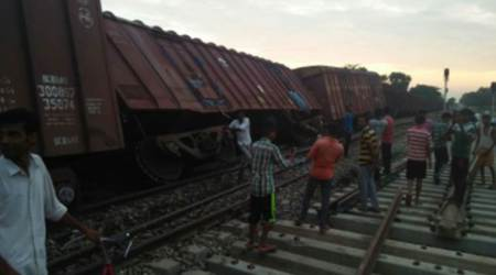 Four loaded wagons of goods train derails near Hardattpur railway station in UP, no casualties