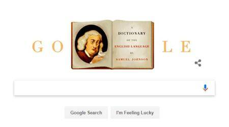 Google Doodle honours Samuel Johnson, father of modern dictionary, on 308th birthday