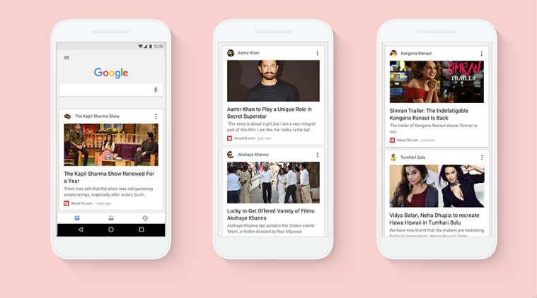 Google, Google app, Google new feed, Google Search, Google feed, news cards, Search results, channel follow, search priority, search optimisation, Search history, online trend, relevant feed results