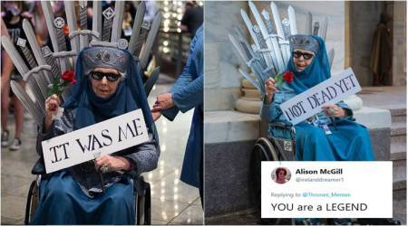 This 87-yr-old grandma dressed as Olenna Tyrell from 'Game of Thrones' has taken the Internet by storm