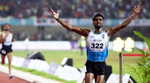 Govindan Lakshmanan, men's 5000, 57th National Open Athletics Championships, sports news, Indian Express