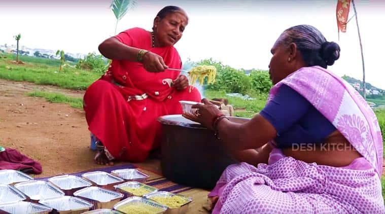 grandma, maggi, 100 packets of maggi, grandma cooks maggi, grandma maggi video, 100 maggi noodles packets, indian express, indian express news