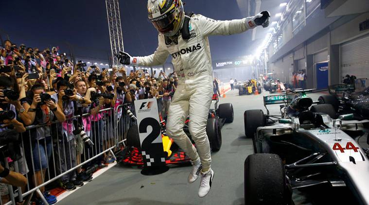 Lewis Hamilton, hamilton, Singapore Grand Prix, Sebastian Vettel, f1, formula one, sports news, indian express