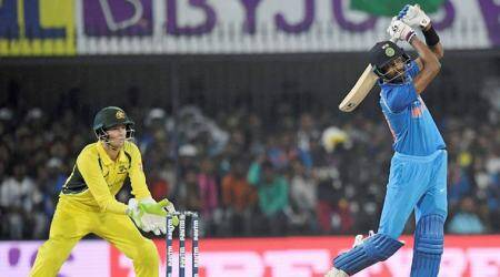 Hardik Pandya, Hardik Pandya batting, Hardik Pandya bowling, Hardik Pandya India, India vs Australia, sports news, cricket, Indian Express