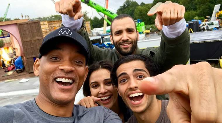 aladdin film, mena massoud, will smith, naomi scott
