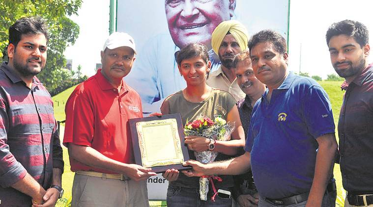 Harmanpreet kaur , Indian Cricketer, womans cricket, sports news, city news, Harmanpreet felicitated, India News, Indian Express