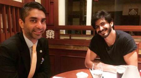 Harshvardhan Kapoor excited to play Olympic gold medalist Abhinav Bindra, shares photo with sports star