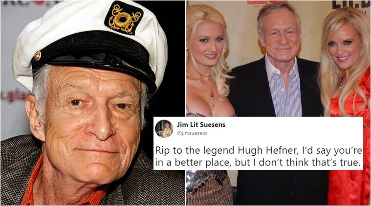 Hugh Hefner Dies At 91 Condolences Pour In For The Playboy Founder On Twitter Trending News The Indian Express