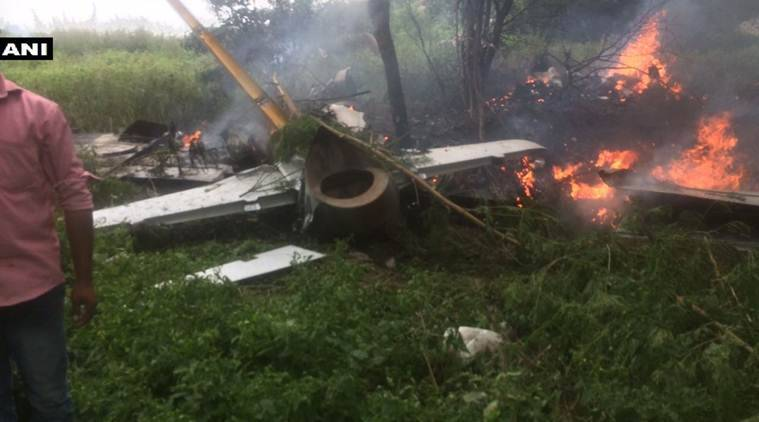 plane crash, indian airforce plane, iaf plane crash, telangana,