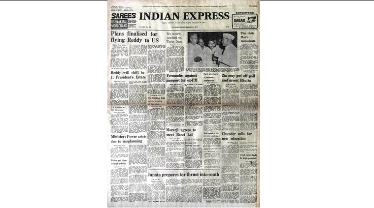 delhi confidential, ZA Bhutto, Bhutto arrest, President Sanjiva Reddy, IG Patel, RBI governor, indian express front page, September 1, 1977, indian express