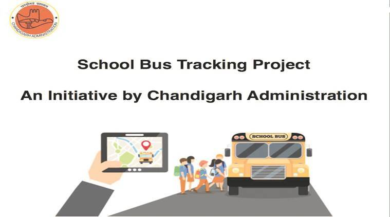 School bus tracking app, App to track school buses, Chandigarh school bus app, Safety of school children, School children safety app, Chandigarh news, Indian Express News